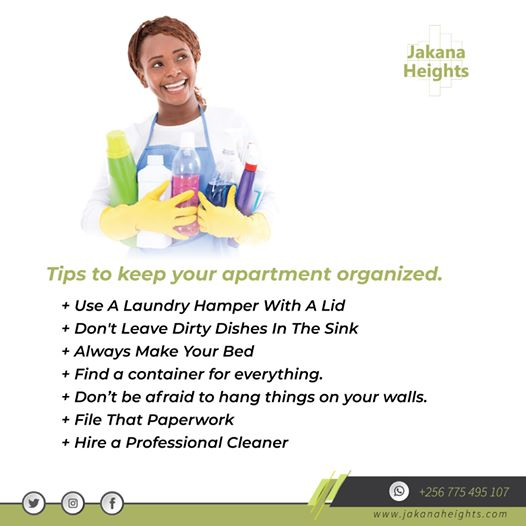 Tips for a clean apartment